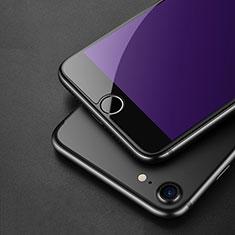 Apple iPhone SE (2020)用アンチグレア ブルーライト 強化ガラス 液晶保護フィルム アップル ネイビー