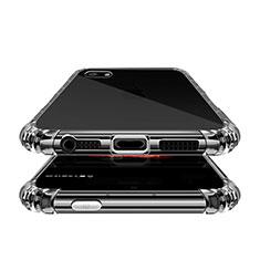 Apple iPhone SE用極薄ソフトケース シリコンケース 耐衝撃 全面保護 クリア透明 T02 アップル クリア