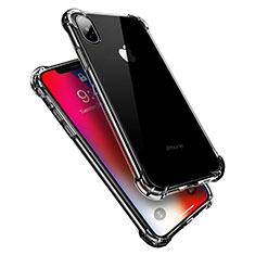 Apple iPhone X用極薄ソフトケース シリコンケース 耐衝撃 全面保護 クリア透明 V10 アップル クリア