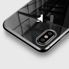 Apple iPhone X用極薄ソフトケース シリコンケース 耐衝撃 全面保護 クリア透明 アップル グレー
