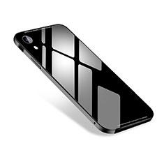 Apple iPhone XR用ケース 高級感 手触り良い アルミメタル 製の金属製 カバー M01 アップル ブラック