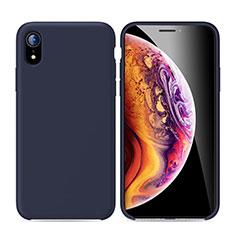 Apple iPhone XR用極薄ソフトケース シリコンケース 耐衝撃 全面保護 S01 アップル ネイビー