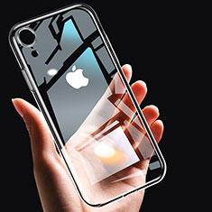 Apple iPhone XR用極薄ソフトケース シリコンケース 耐衝撃 全面保護 クリア透明 T14 アップル クリア