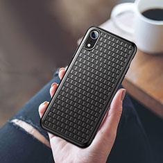 Apple iPhone XR用極薄ソフトケース シリコンケース 耐衝撃 全面保護 S02 アップル ブラック