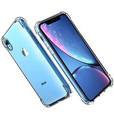 Apple iPhone XR用極薄ソフトケース シリコンケース 耐衝撃 全面保護 クリア透明 T16 アップル クリア