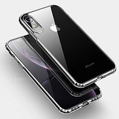 Apple iPhone XR用極薄ソフトケース シリコンケース 耐衝撃 全面保護 クリア透明 HC04 アップル クリア