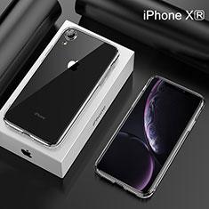 Apple iPhone XR用極薄ソフトケース シリコンケース 耐衝撃 全面保護 クリア透明 HC05 アップル クリア