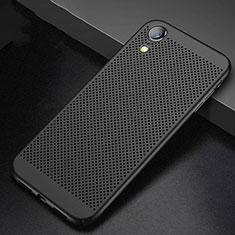Apple iPhone XR用ハードケース プラスチック メッシュ デザイン カバー アップル ブラック
