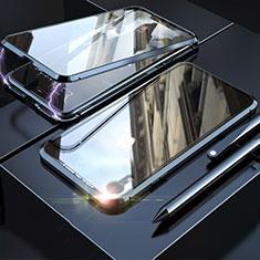 Apple iPhone XR用ケース 高級感 手触り良い アルミメタル 製の金属製 360度 フルカバーバンパー 鏡面 カバー M02 アップル ブラック