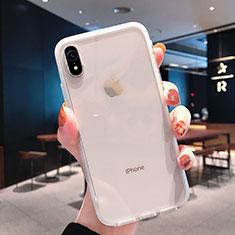 Apple iPhone XR用極薄ソフトケース シリコンケース 耐衝撃 全面保護 クリア透明 K01 アップル クリア