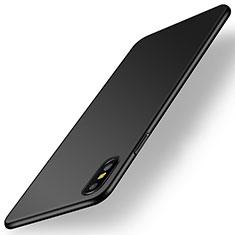 Apple iPhone Xs用ハードケース プラスチック 質感もマット M15 アップル ブラック