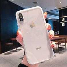 Apple iPhone Xs用極薄ソフトケース シリコンケース 耐衝撃 全面保護 クリア透明 K01 アップル クリア