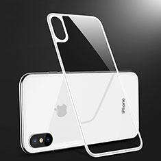 Apple iPhone Xs用強化ガラス 背面保護フィルム B09 アップル ホワイト