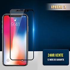 Apple iPhone Xs用強化ガラス フル液晶保護フィルム F30 アップル ブラック