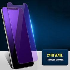 Apple iPhone Xs用アンチグレア ブルーライト 強化ガラス 液晶保護フィルム B02 アップル ネイビー