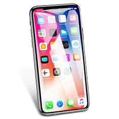 Apple iPhone Xs用強化ガラス フル液晶保護フィルム V02 アップル ホワイト