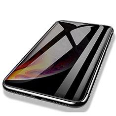 Apple iPhone Xs用強化ガラス フル液晶保護フィルム P03 アップル ブラック