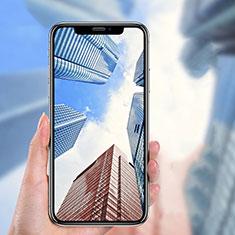 Apple iPhone Xs用強化ガラス フル液晶保護フィルム P04 アップル ブラック