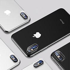 Apple iPhone Xs用強化ガラス カメラプロテクター カメラレンズ 保護ガラスフイルム P01 アップル クリア