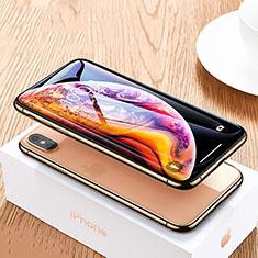 Apple iPhone Xs用強化ガラス フル液晶保護フィルム P06 アップル ブラック