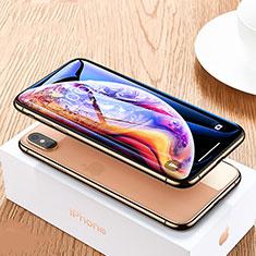 Apple iPhone Xs用強化ガラス フル液晶保護フィルム P07 アップル ブラック