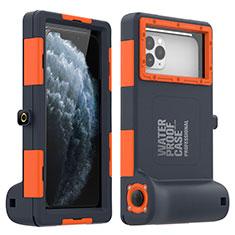 Apple iPhone Xs Max用完全防水ケース ハイブリットバンパーカバー 高級感 手触り良い 水面下 アップル オレンジ