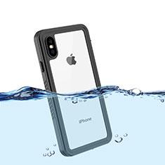 Apple iPhone Xs Max用完全防水ケース ハイブリットバンパーカバー 高級感 手触り良い 360度 アップル ブラック