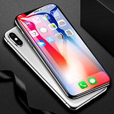 Apple iPhone Xs Max用強化ガラス フル液晶保護フィルム F31 アップル ブラック