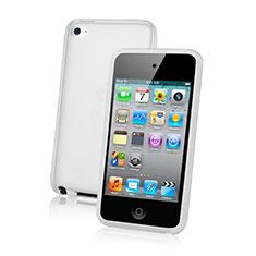 Apple iPod Touch 4用極薄ソフトケース シリコンケース 耐衝撃 全面保護 クリア透明 アップル ホワイト
