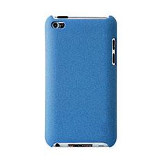Apple iPod Touch 4用ハードケース プラスチック 質感もマット アップル ブルー