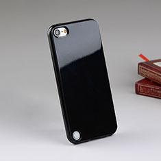 Apple iPod Touch 5用シリコンケース ソフトタッチラバー アップル ブラック