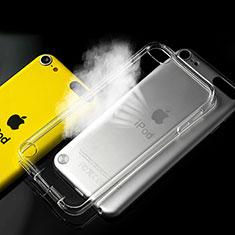 Apple iPod Touch 5用極薄ソフトケース シリコンケース 耐衝撃 全面保護 クリア透明 アップル クリア