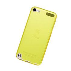 Apple iPod Touch 5用極薄ソフトケース シリコンケース 耐衝撃 全面保護 クリア透明 アップル イエロー