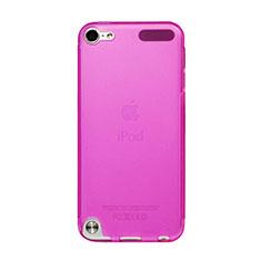 Apple iPod Touch 5用極薄ソフトケース シリコンケース 耐衝撃 全面保護 クリア透明 アップル ローズレッド