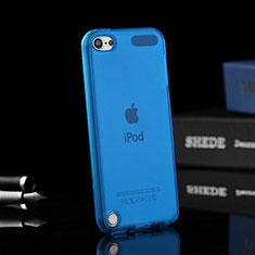 Apple iPod Touch 5用極薄ソフトケース シリコンケース 耐衝撃 全面保護 クリア透明 アップル ネイビー