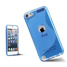 Apple iPod Touch 5用ソフトケース S ライン クリア透明 アップル ネイビー