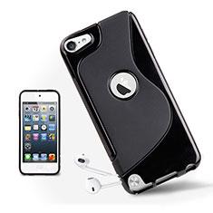 Apple iPod Touch 5用ソフトケース S ライン クリア透明 アップル ブラック