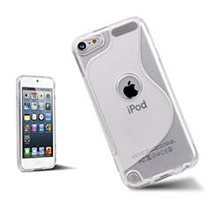 Apple iPod Touch 5用ソフトケース S ライン クリア透明 アップル ホワイト