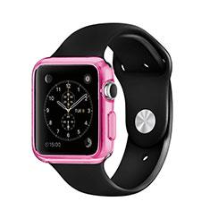 Apple iWatch 3 38mm用極薄ソフトケース シリコンケース 耐衝撃 全面保護 クリア透明 アップル ピンク