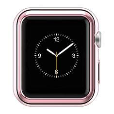 Apple iWatch 3 38mm用ケース 高級感 手触り良い アルミメタル 製の金属製 バンパー A01 アップル ピンク