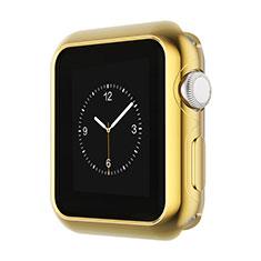 Apple iWatch 3 38mm用ケース 高級感 手触り良い アルミメタル 製の金属製 バンパー A01 アップル ゴールド