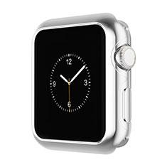 Apple iWatch 3 38mm用ケース 高級感 手触り良い アルミメタル 製の金属製 バンパー A01 アップル シルバー