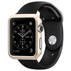 Apple iWatch 3 38mm用ケース 高級感 手触り良い アルミメタル 製の金属製 バンパー C01 アップル ゴールド