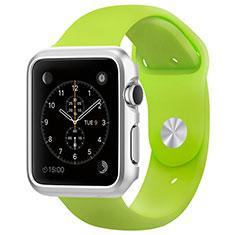 Apple iWatch 3 38mm用ケース 高級感 手触り良い アルミメタル 製の金属製 バンパー C01 アップル シルバー