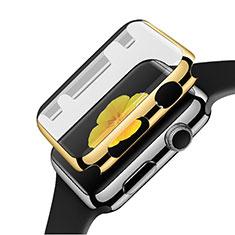 Apple iWatch 3 38mm用ケース 高級感 手触り良い アルミメタル 製の金属製 バンパー C02 アップル ゴールド