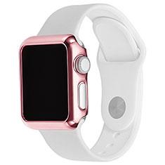 Apple iWatch 3 38mm用ケース 高級感 手触り良い アルミメタル 製の金属製 バンパー C03 アップル ピンク
