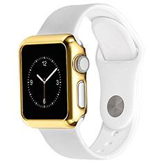 Apple iWatch 3 38mm用ケース 高級感 手触り良い アルミメタル 製の金属製 バンパー C03 アップル ゴールド