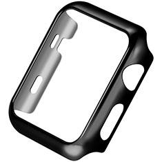 Apple iWatch 3 38mm用ケース 高級感 手触り良い アルミメタル 製の金属製 バンパー C03 アップル ブラック