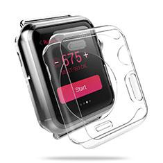 Apple iWatch 3 42mm用ハードケース クリスタル クリア透明 アップル クリア