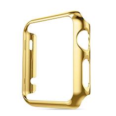 Apple iWatch 3 42mm用ケース 高級感 手触り良い アルミメタル 製の金属製 バンパー アップル ゴールド
